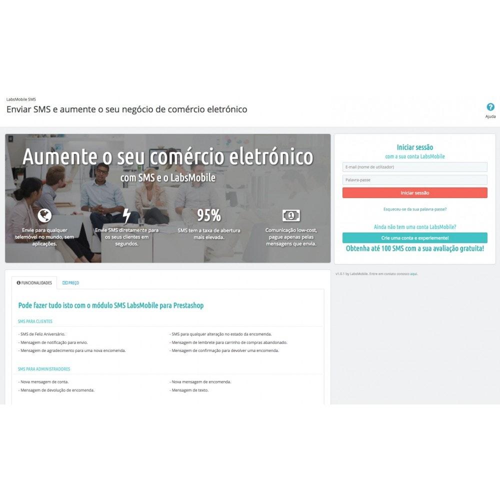 module - Boletim informativo & SMS - LabsMobile SMS - 5
