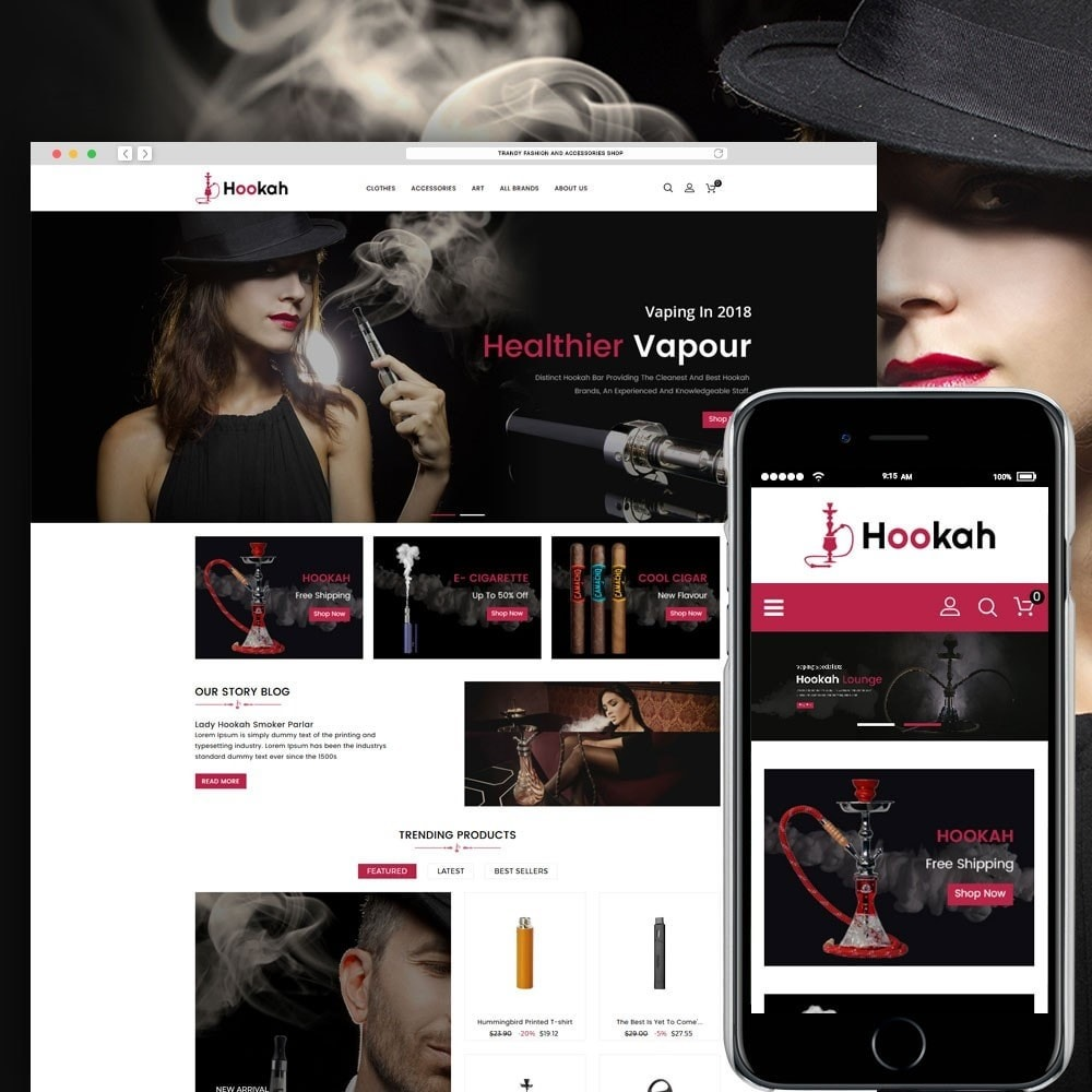 theme - Drink & Wine - Hookah and Cigar Shop - 1