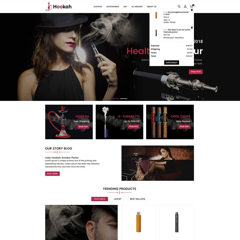 theme - Drink & Wine - Hookah and Cigar Shop - 3