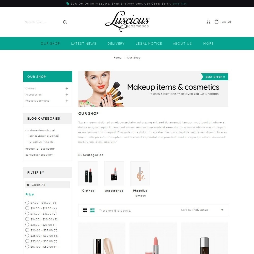 theme - Salute & Bellezza - Luscious - The Beauty Store - 4