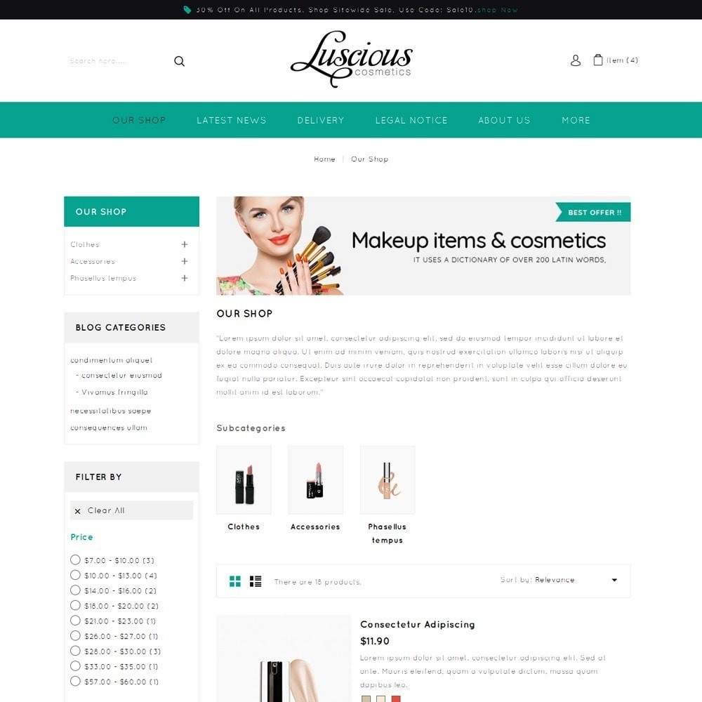 theme - Salute & Bellezza - Luscious - The Beauty Store - 5