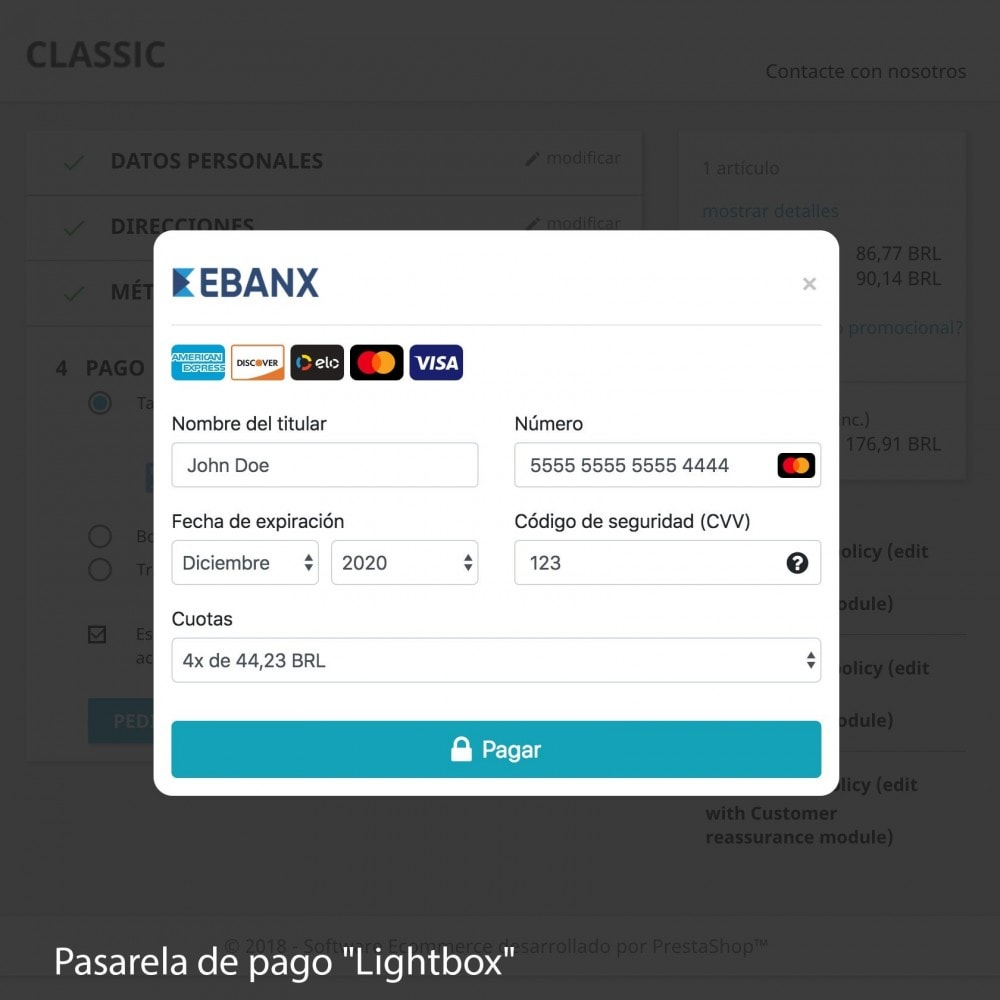 module - Payment by Card or Wallet - EBANX Plus - 7