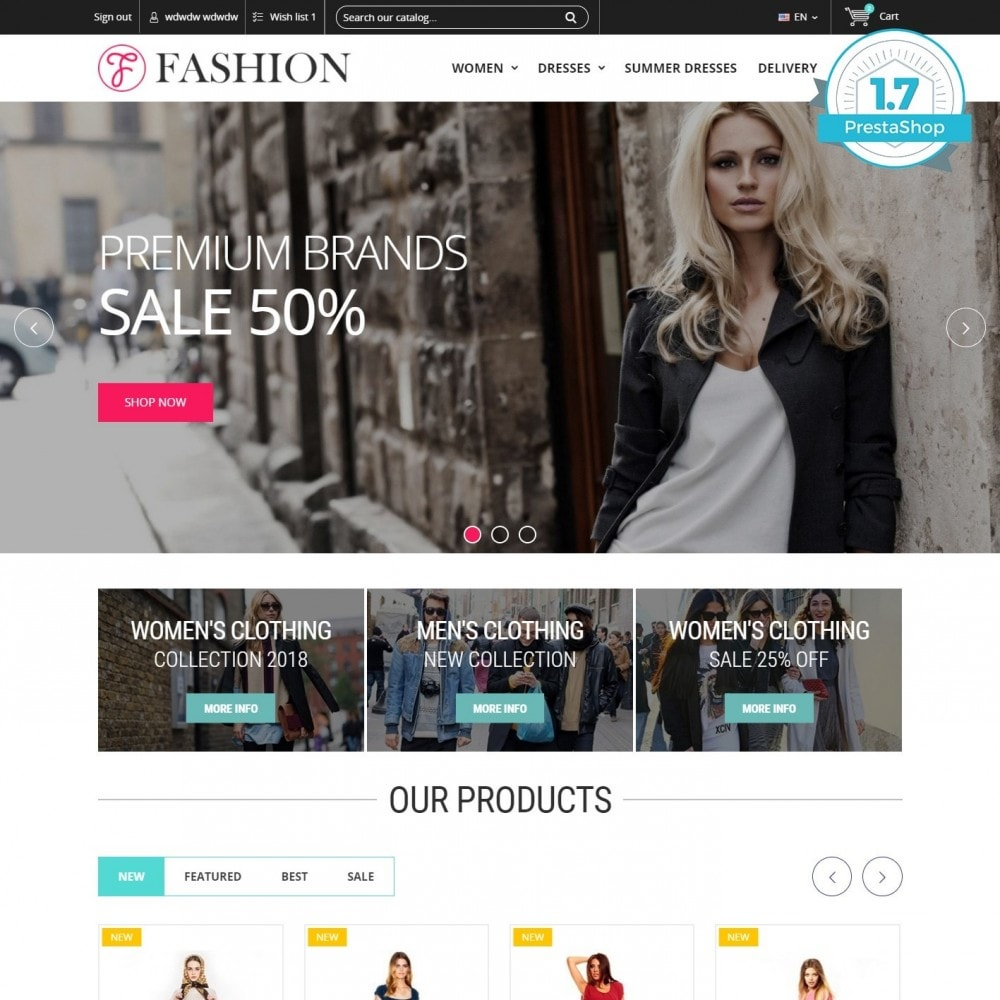 theme - Mode & Chaussures - Clothing - Magasin De Mode - 1