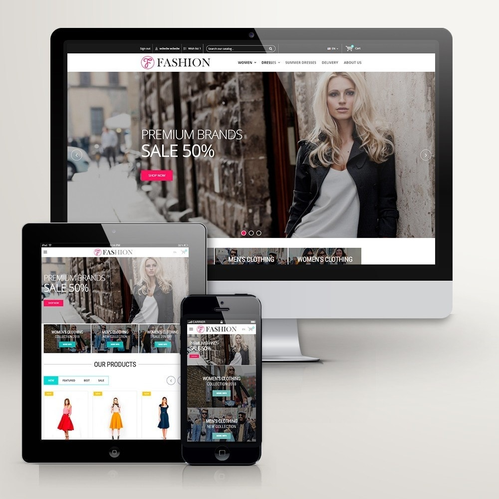 theme - Mode & Chaussures - Clothing - Magasin De Mode - 2