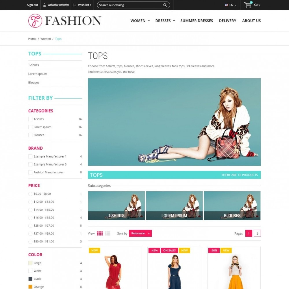 theme - Mode & Chaussures - Clothing - Magasin De Mode - 3
