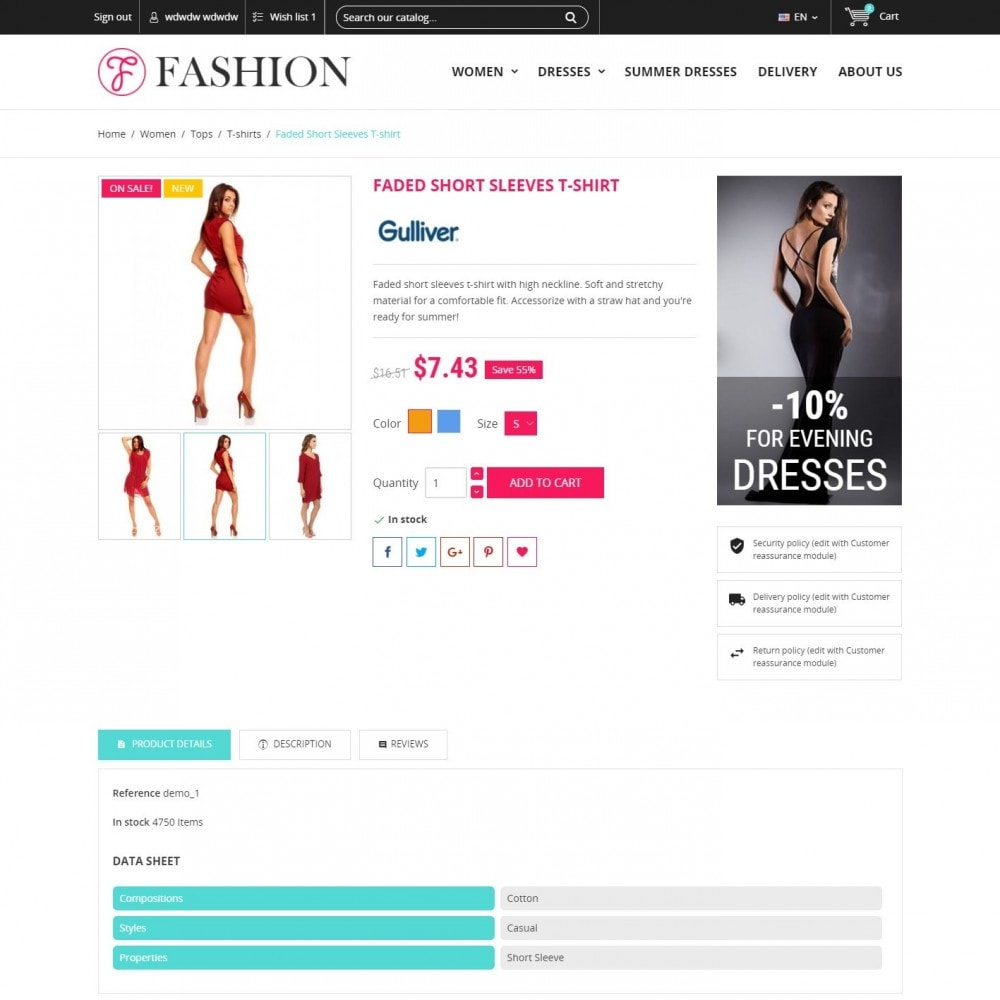 theme - Mode & Chaussures - Clothing - Magasin De Mode - 4