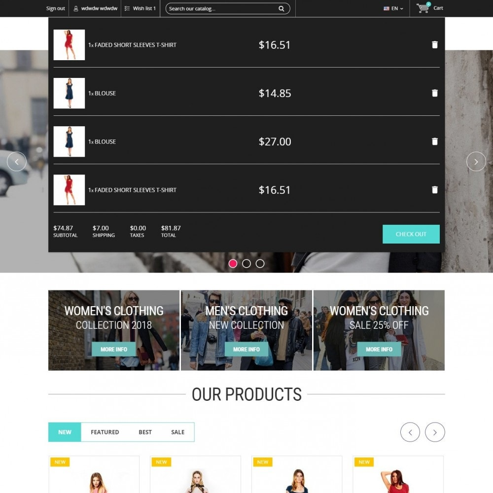 theme - Mode & Chaussures - Clothing - Magasin De Mode - 6