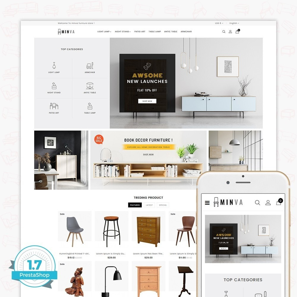 theme - Dom & Ogród - Minva Furniture Store - 1