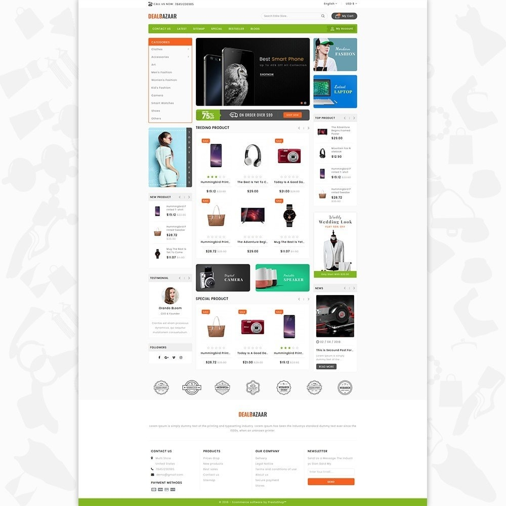 theme - Elettronica & High Tech - DealBazaar - Largest Marketshop - 2