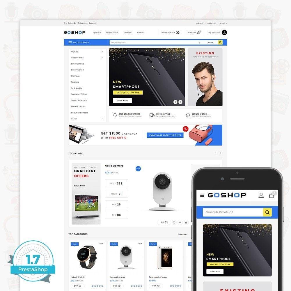 theme - Electronique & High Tech - GoShop - The Electronics Store - 1