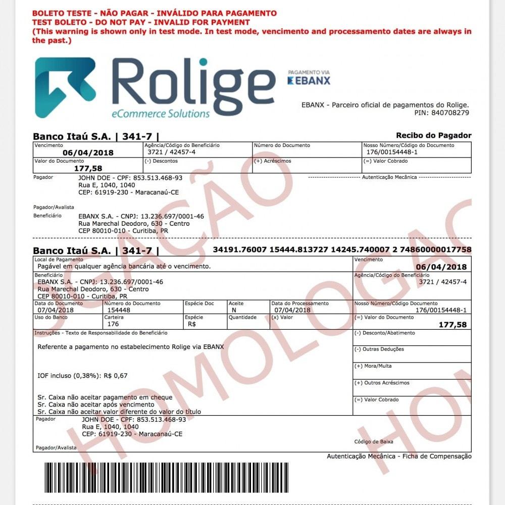 module - Pagamento por cartão ou por carteira - EBANX Plus - 12