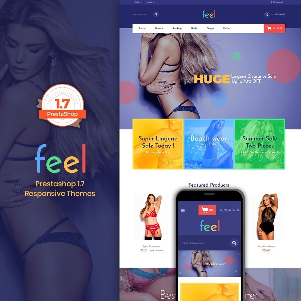 theme - Fashion & Shoes - Feel - Lingerie Store - 1