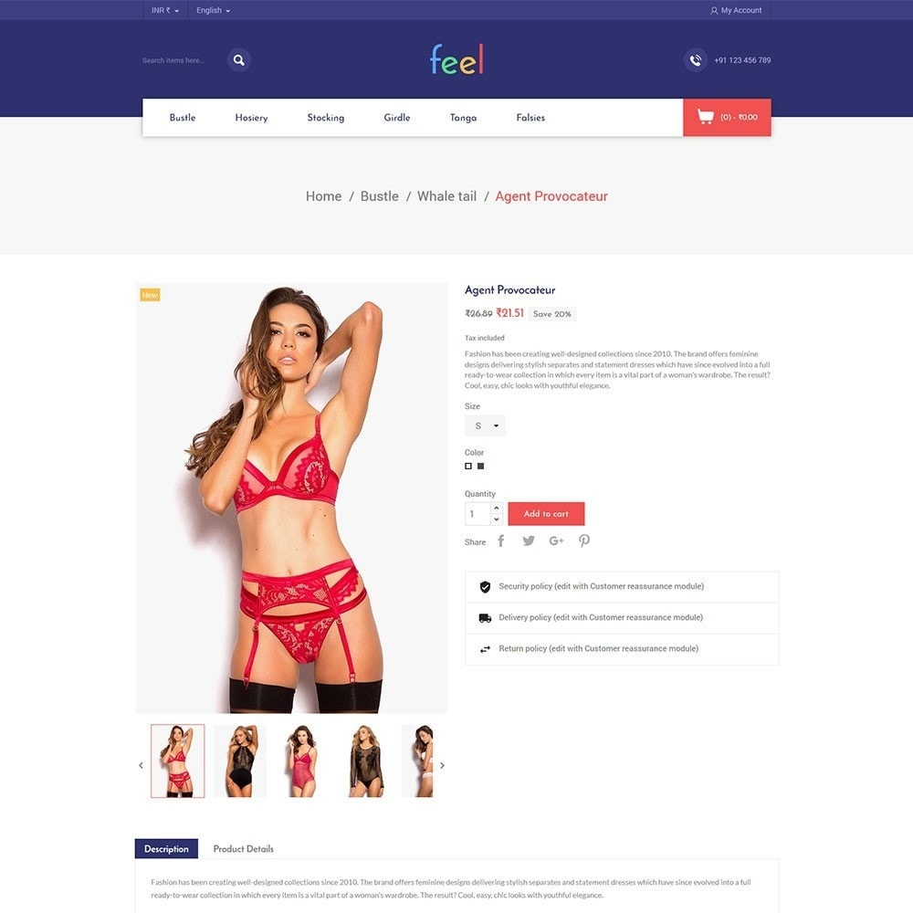 theme - Fashion & Shoes - Feel - Lingerie Store - 4