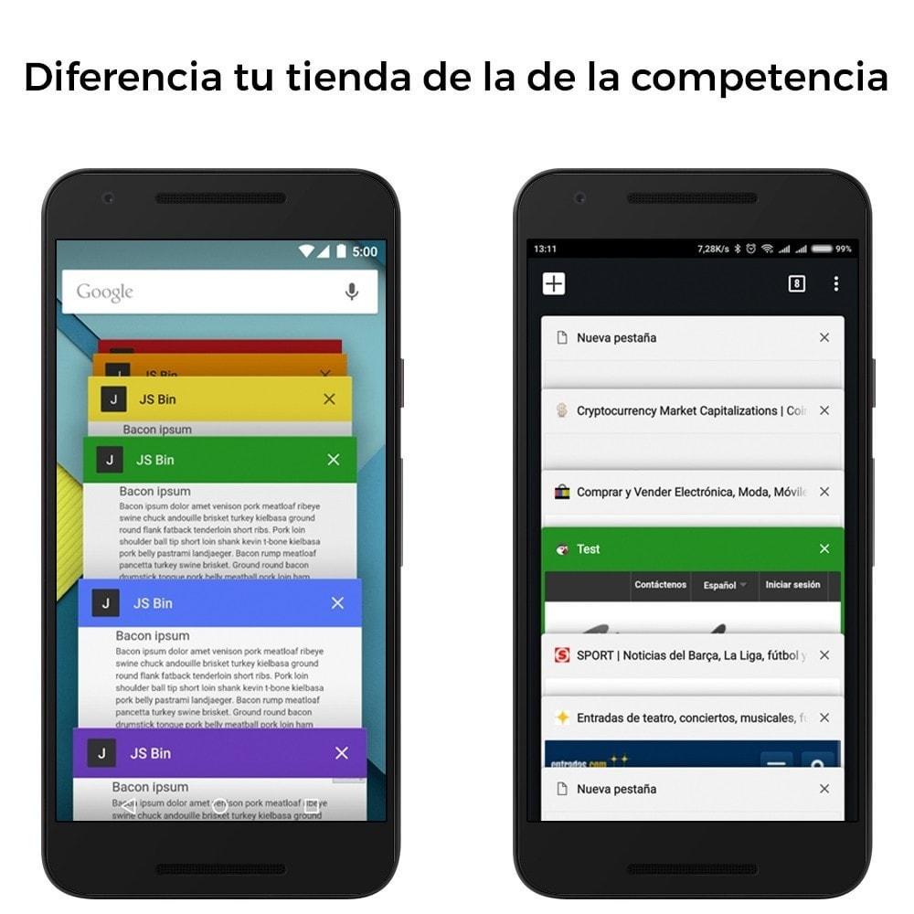 module - Personalización de la página - Color de la pestaña del navegador - Diferencia tu web - 2