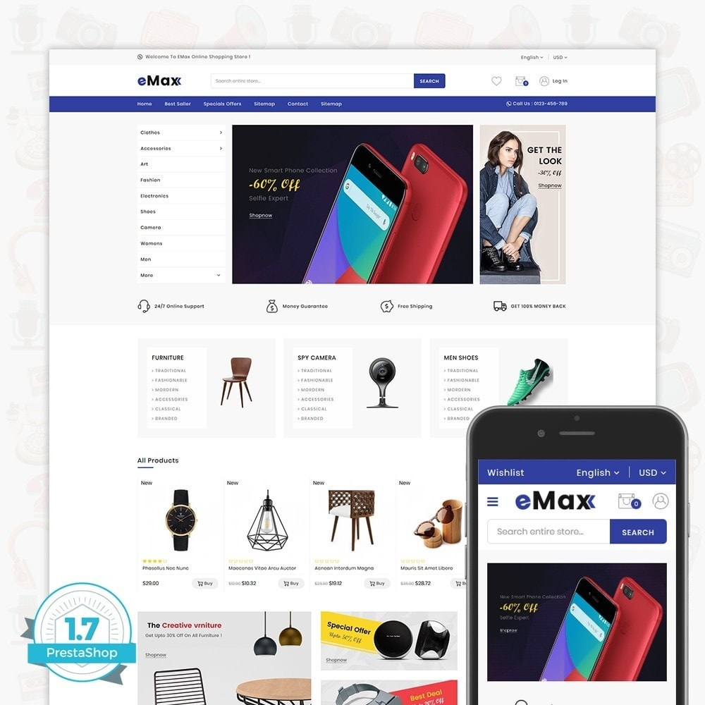 theme - Fashion & Shoes - eMax - The Multi Mega Store - 1