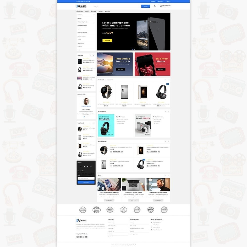 theme - Electrónica e High Tech - DIGICOM- The Large Ecommerce Store - 2