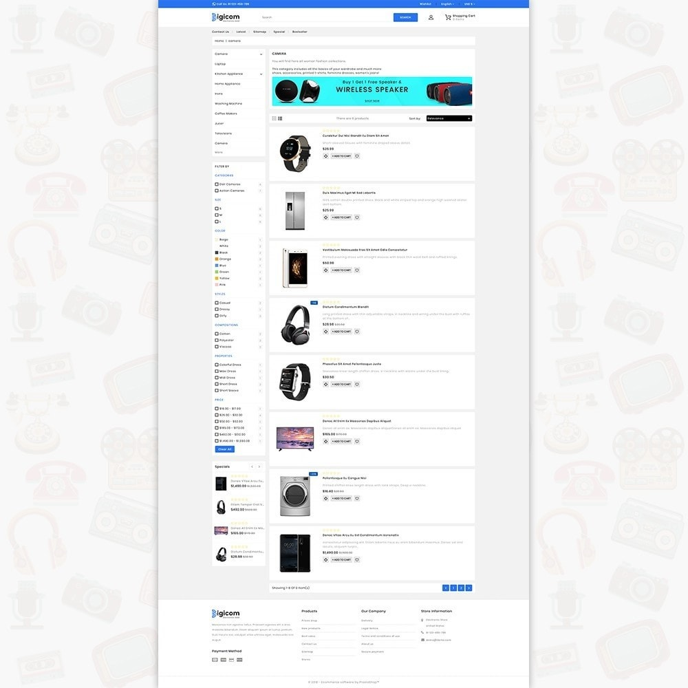 theme - Electrónica e High Tech - DIGICOM- The Large Ecommerce Store - 4