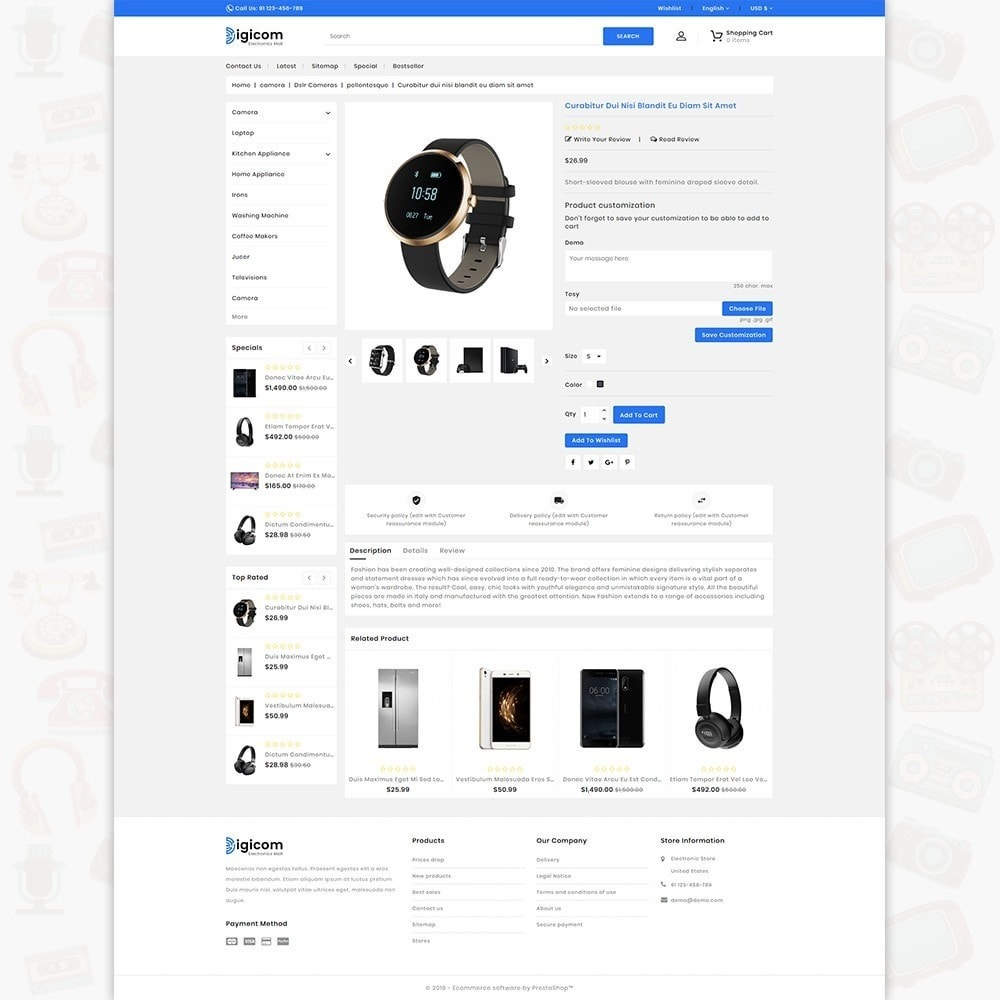 theme - Electrónica e High Tech - DIGICOM- The Large Ecommerce Store - 5