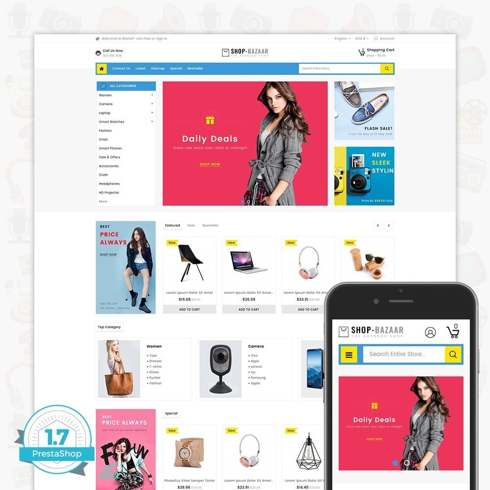 theme - Elettronica & High Tech - ShopBazaar - Largest Marketshop - 1
