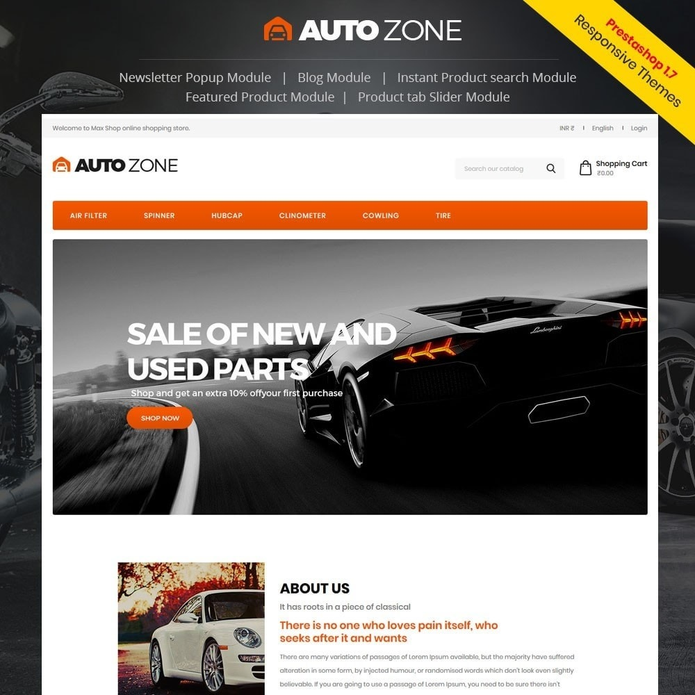 theme - Auto's & Motoren - Autozone - Auto Store - 1