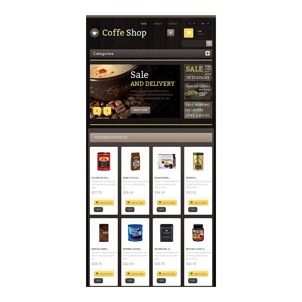 theme - Żywność & Restauracje - Responsive Coffee Shop - 7