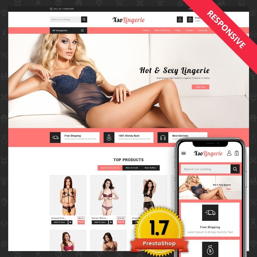 theme - Lingerie & Adult - XSO Lingerie Store - 1