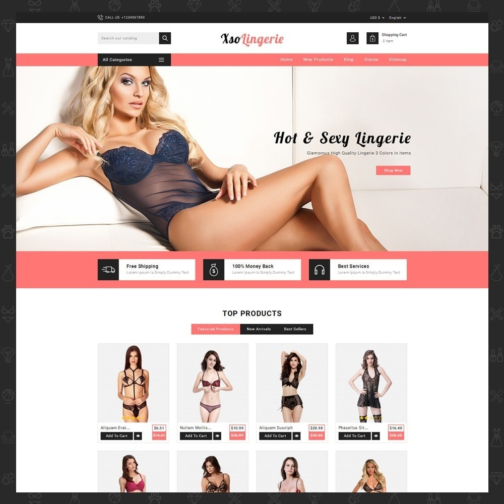 theme - Lingerie & Adult - XSO Lingerie Store - 2
