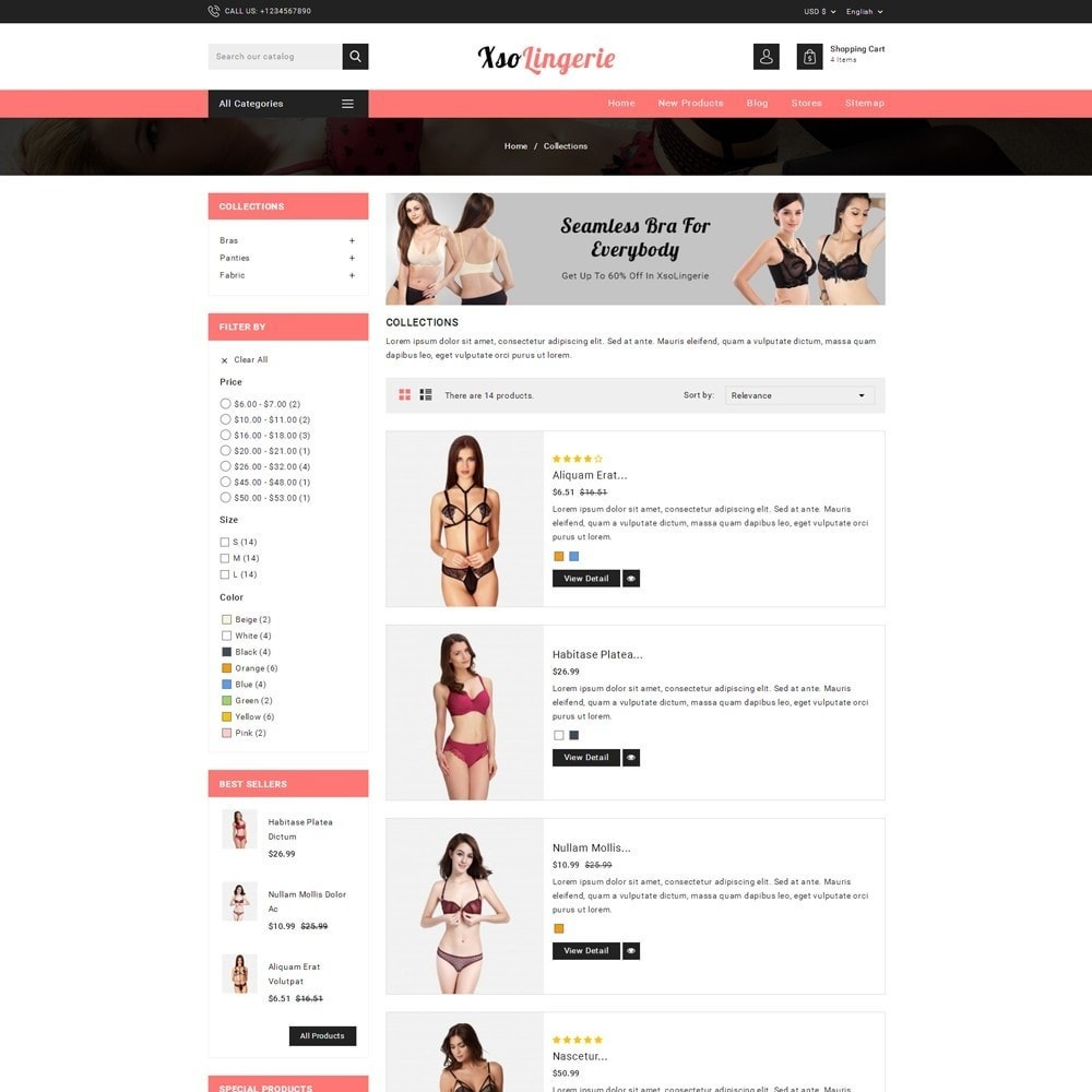 theme - Lingerie & Adult - XSO Lingerie Store - 4