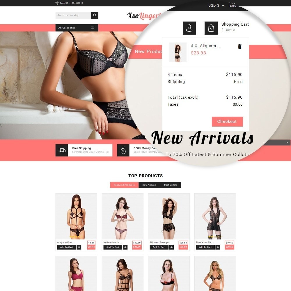 theme - Lingerie & Adult - XSO Lingerie Store - 9