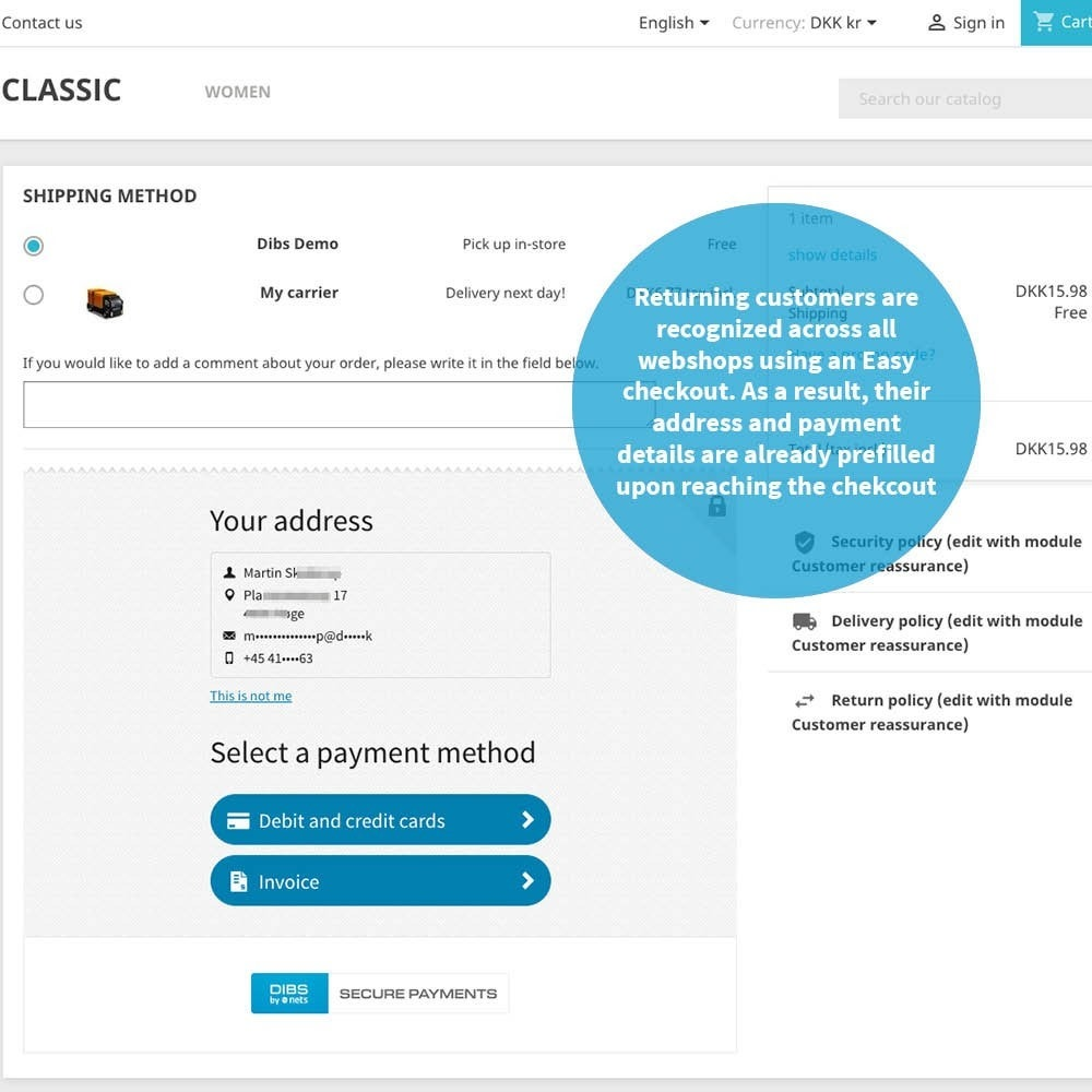 module - Payment by Card or Wallet - DIBS Easy - 4