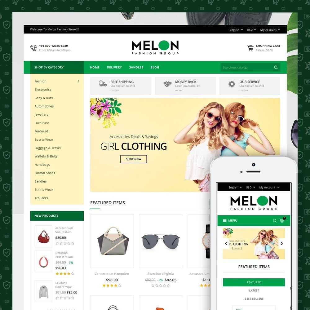 theme - Мода и обувь - Melon Fashion Store - 1