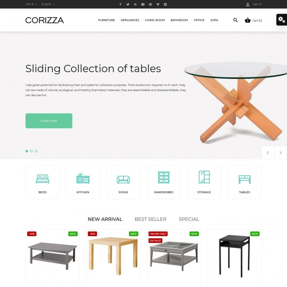 theme - Home & Garden - Corizza - 2