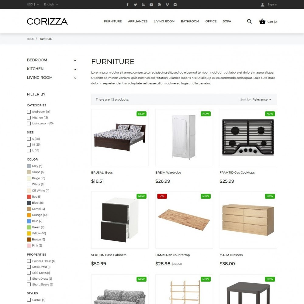 theme - Home & Garden - Corizza - 5
