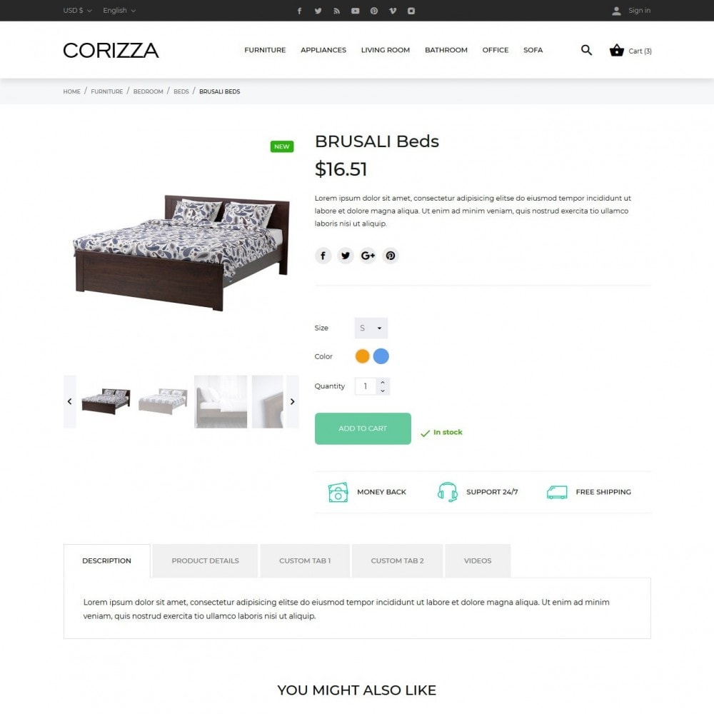 theme - Home & Garden - Corizza - 6