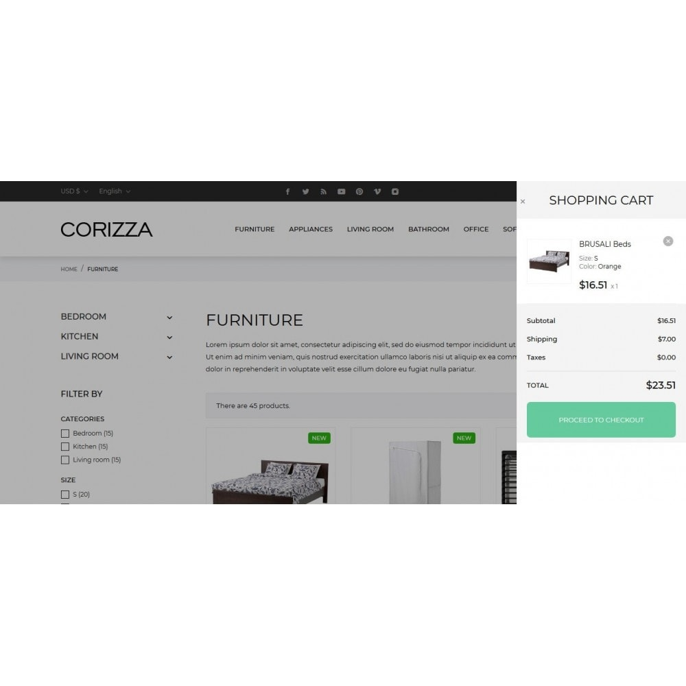 theme - Home & Garden - Corizza - 11