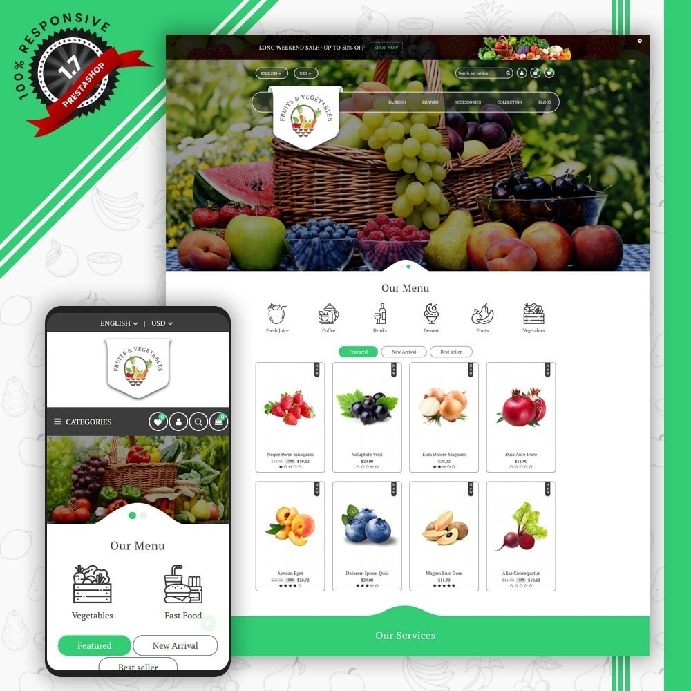 theme - Eten & Restaurant - Fruits & Vegetables Store - 1