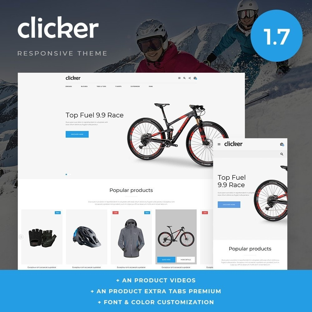 theme - Sport, Activiteiten & Reizen - Clicker - 1