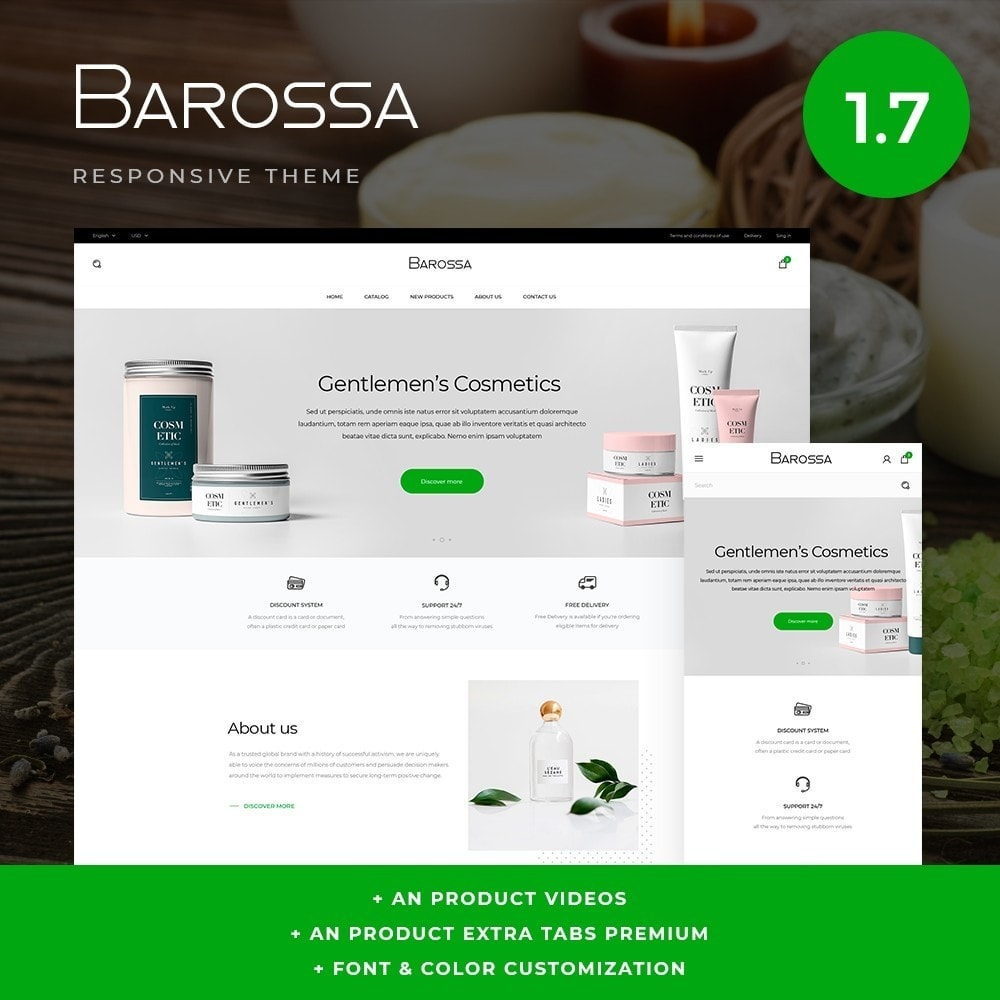 theme - Zdrowie & Uroda - Barossa Cosmetics - 1