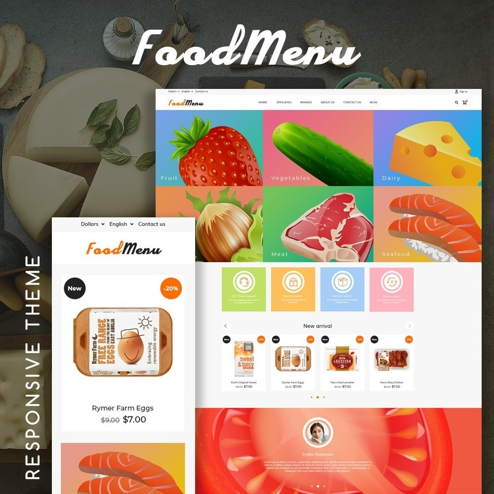 theme - Alimentation & Restauration - FoodMenu - 1