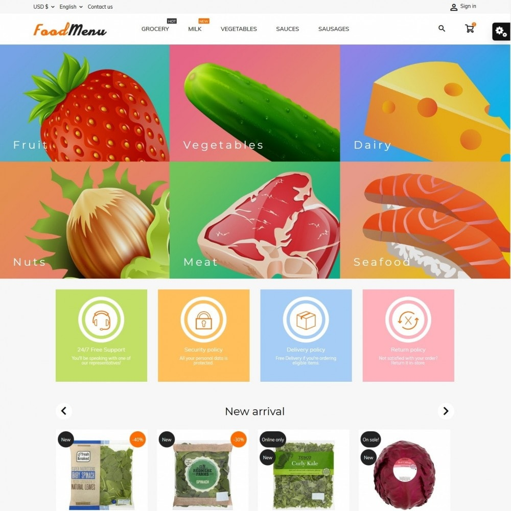theme - Alimentation & Restauration - FoodMenu - 2