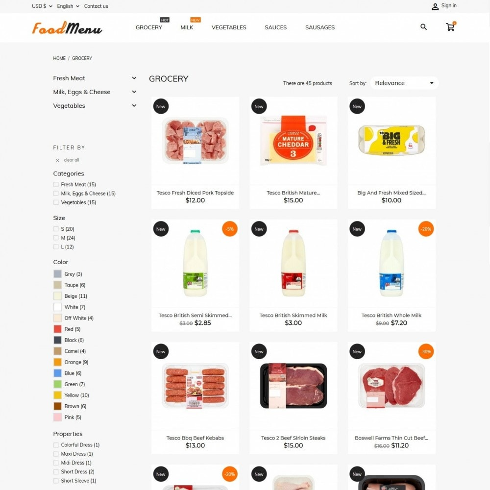 theme - Alimentation & Restauration - FoodMenu - 5