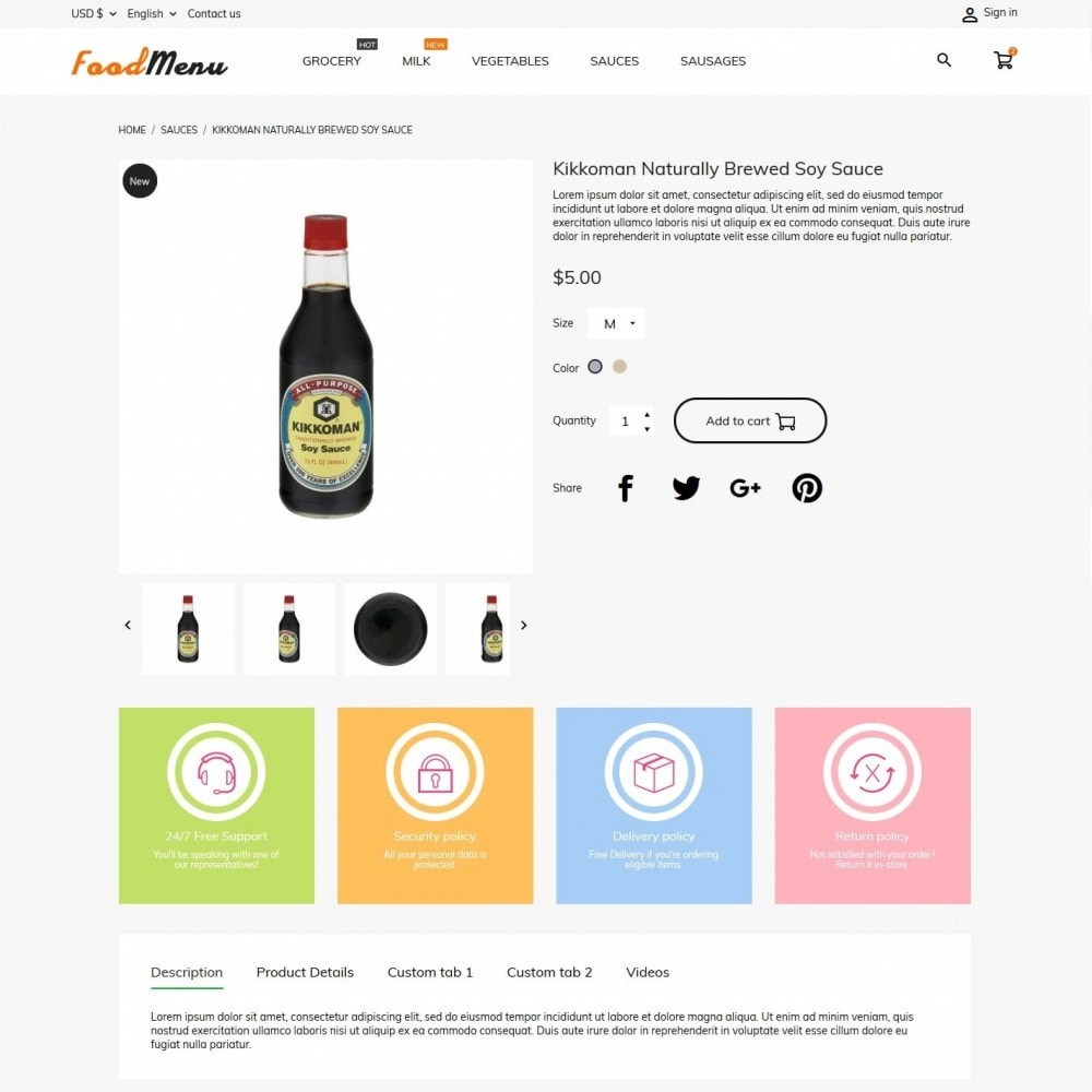 theme - Alimentation & Restauration - FoodMenu - 6