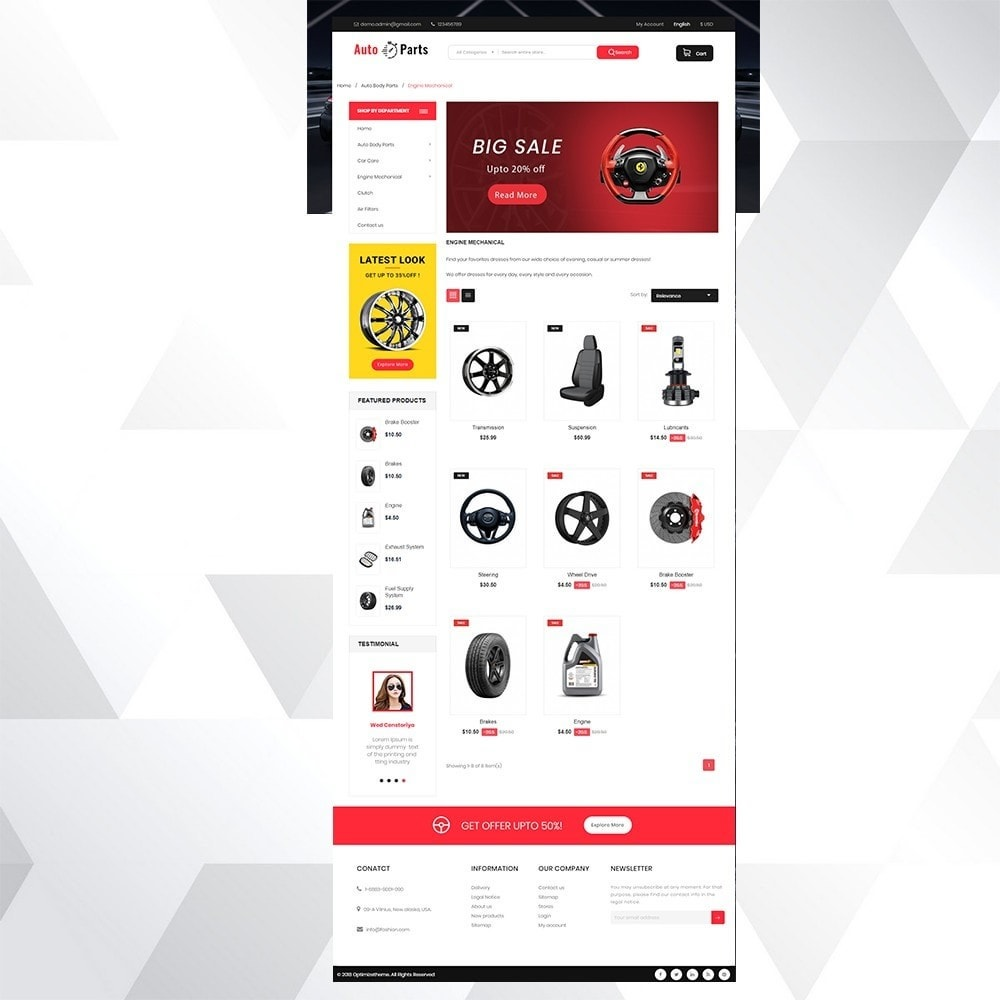 theme - Auto & Moto - Auto part store - 3