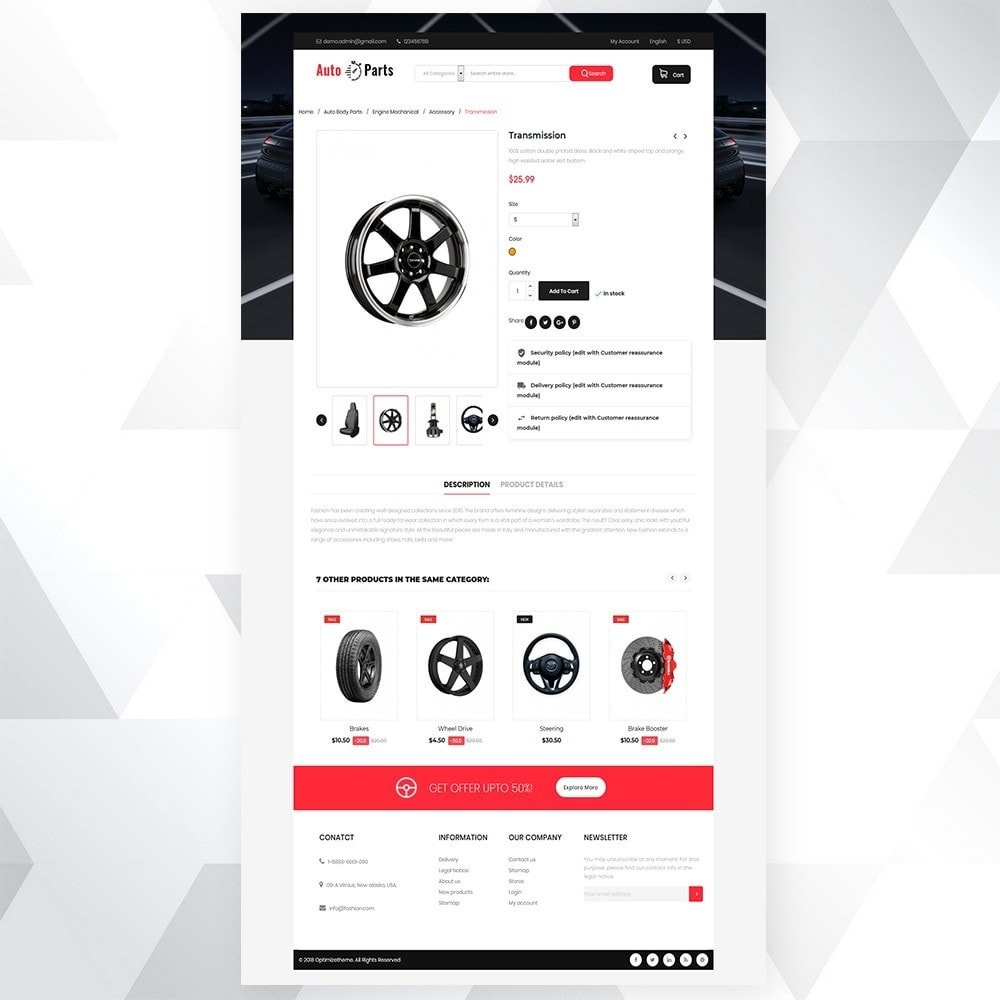 theme - Auto & Moto - Auto part store - 6