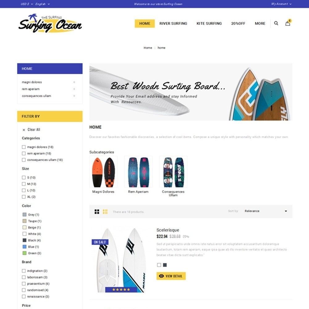 theme - Спорт и Путешествия - Surfing Ocean - The Sport Store - 4