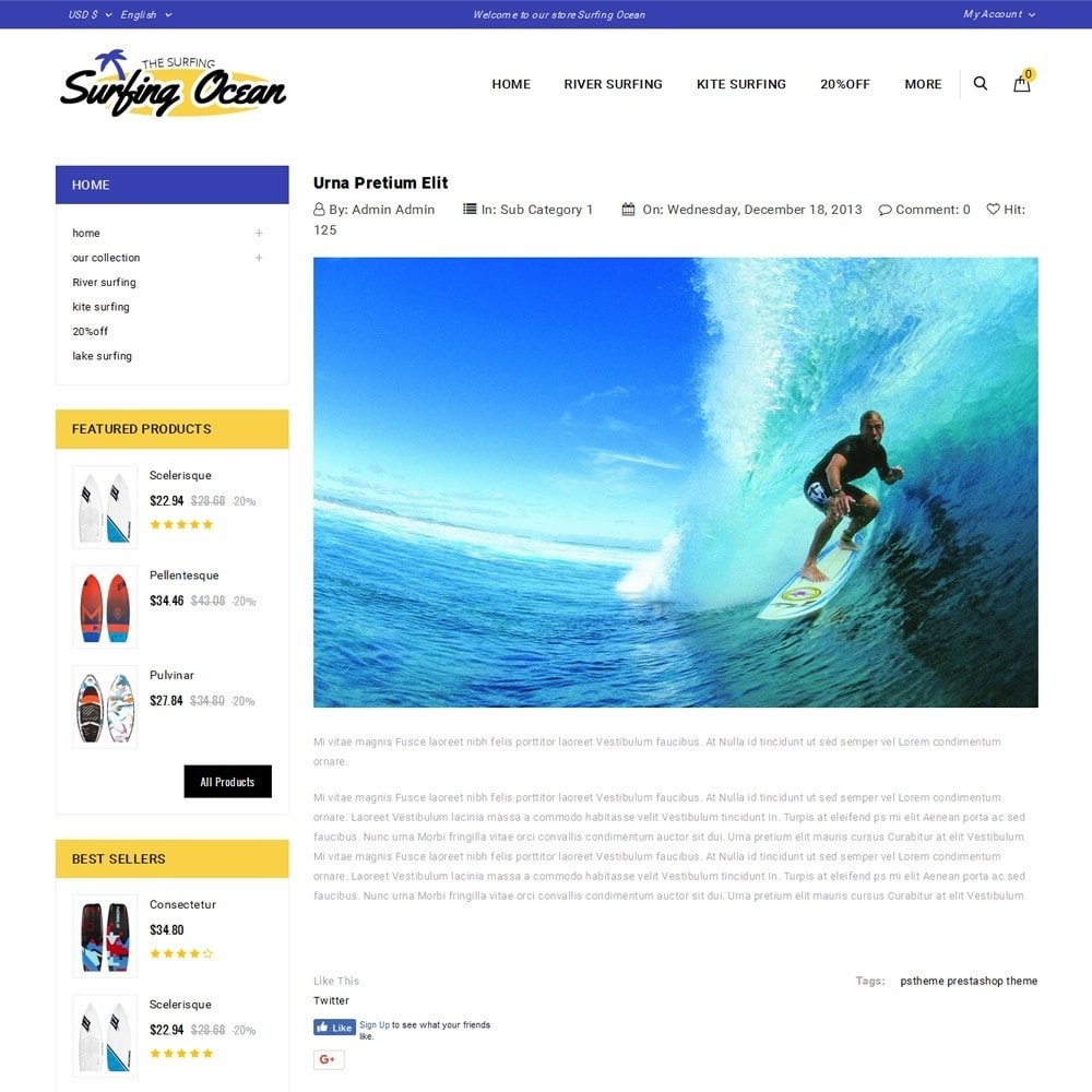 theme - Спорт и Путешествия - Surfing Ocean - The Sport Store - 6