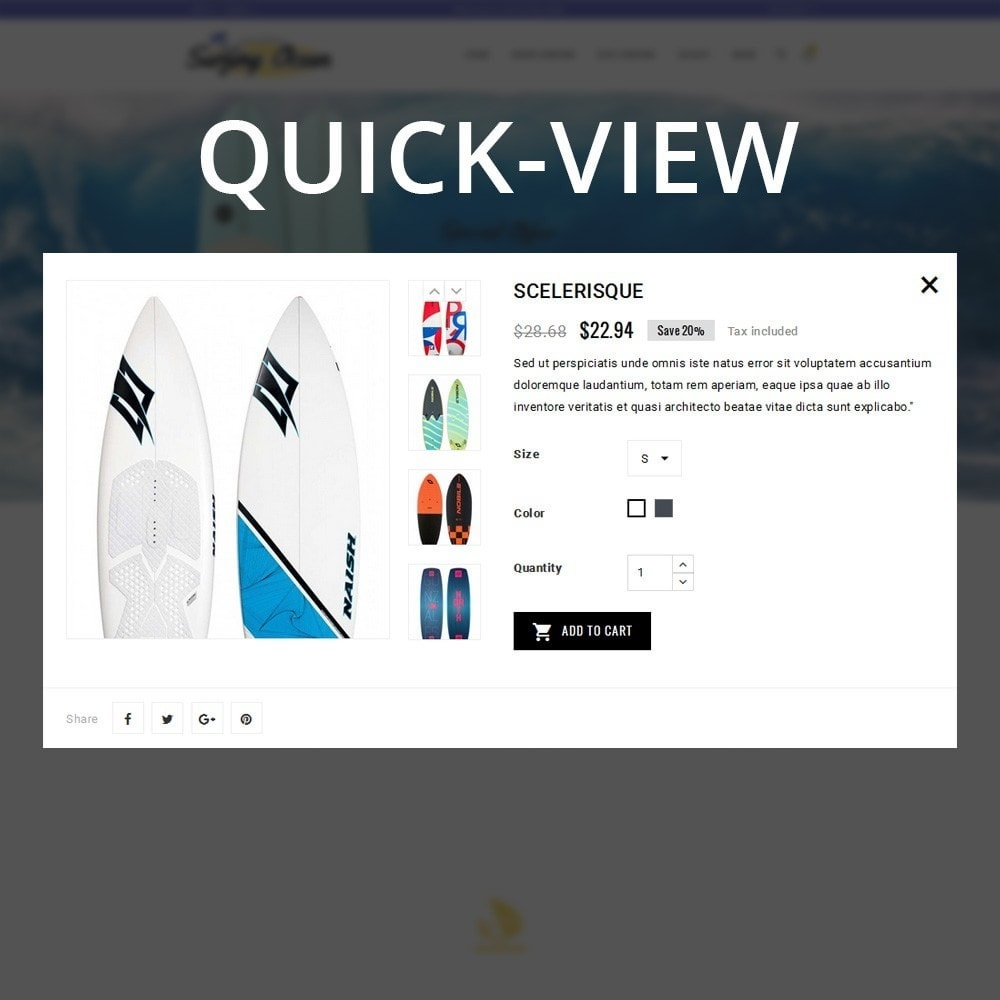 theme - Спорт и Путешествия - Surfing Ocean - The Sport Store - 12