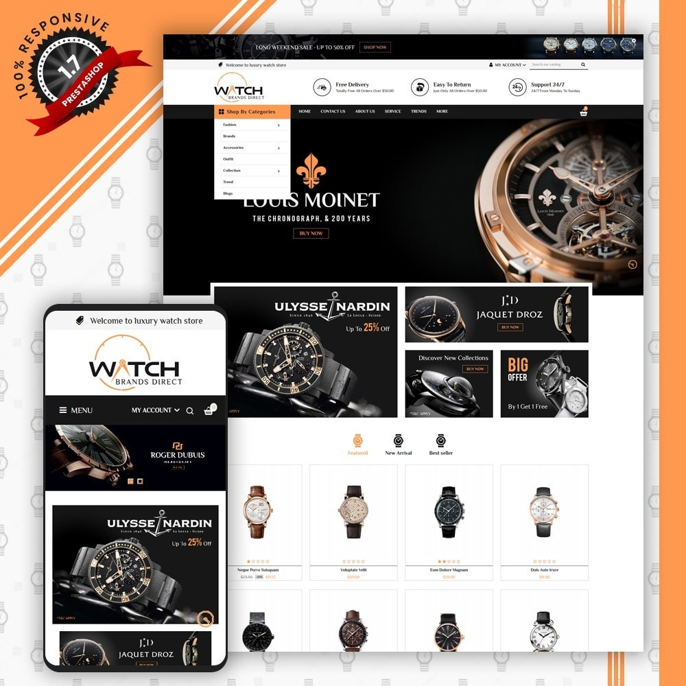 theme - Jewelry & Accessories - Luxury Watch Store - 1