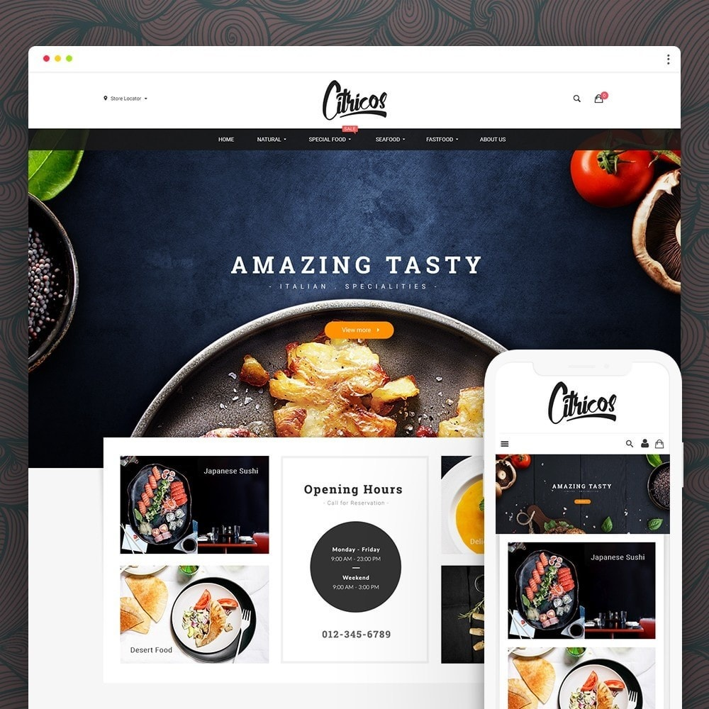 theme - Food & Restaurant - Citricos Food & Drink - 1
