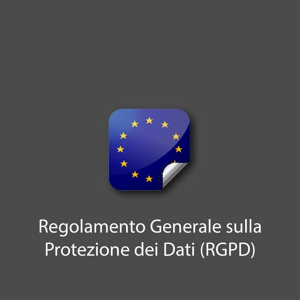 module - Legale (Legge Europea) - Regolamento Generale sulla Protezione dei Dati (RGPD) - 1